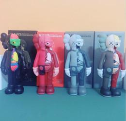 HOT 20CM 0,25 kg Originalfake KAWS 8inches Companion Dissected Original Box KAWS Action Figure presente decorações modelo brinquedos em Promoção