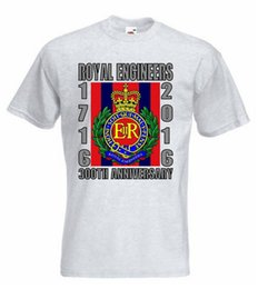 Wholesale 3d printed sweat shirt online – oversize Royal Engineers T Shirt British Army Sapper Tshirt Re Sweat Shirt Fashion Men T Shirt New D Printed Cool Offensive Shirts