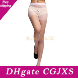 Wholesale hottest lingerie girl online – Sexy Woman Cortchless Stockings Lingerie Ultra Elastic Silk Stockings Sheath Tight For Hot Cuddly Girl Open Crotch Pantyhorse