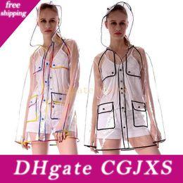 Wholesale fringe coat resale online – New Raincoats Eva Waterproof Transparent Raincoat Fashionable Women Rainwear Rain Coat Jacket Rainbow Fringe Clothes Rain Gear Wx9