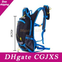 helmet bags Australia - Outdoor Quick Drying Bicycle Bag Cycling Backpack Bike Water Bag Climbing Travel Hydration Backpack With Detachable Helmet Net