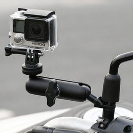 camera mounting for bike NZ - Motorcycle Bike Camera Holder Handlebar Mirror Mount Bracket 1 4 Metal Stand For GoPro Hero8 7 6 5 4 3+ Action Cameras Accessory T200620
