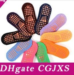 Wholesale sports hosiery resale online - Baby Socks Toddler Floor Socks Kids Yoga Trampoline Socks Cotton Ankle Sock Slippers Sports Designer Non Slip Short Hosiery Anklet