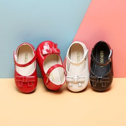 Bambino Scarpe 1-3 Year Old neonate Red Leather Shoes Primavera principessa bambino molle inferiore