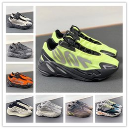 Wholesale Top Quality Kanye 700 V3 Men Women Running Shoes Orange West Sports Trainers 700 V2 Solid Grey Magnet Inertia Stylist Sneakers Size 36-46