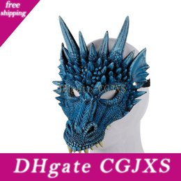 Wholesale costume dragons for sale – halloween 2019 New d Dragon Mask Carnival Party Animal Costume Dragon Cosplay Masquerade Face Mask Pu Mardi Gras Mask A05