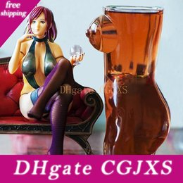 Wholesale cartoon 3d sexy resale online - 100 New Brand d Sexy Lady Men Durable Double Wall Transparent Whiskey Glasses Wine Shot Glass Big Chest Beer Cup ml Lovers Gift