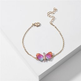 Wholesale butterfly wings for halloween for sale – halloween Qingdao Daiwei jewelry summer color transparent multi color acrylic wings Bracelet butterfly butterfly bracelet for ladies