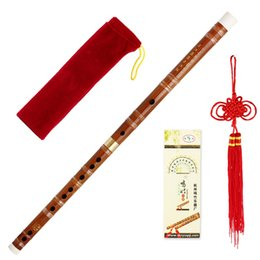 Chinese Musical Instrument Bamboo Flute dizi Traditional handmade In D Key on Sale