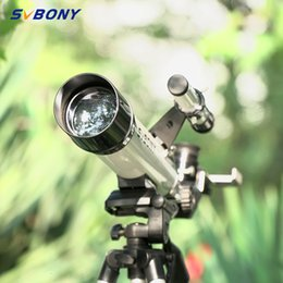 kid telescopes NZ - SVBONY SV25 60 420mm Monoculars Refractor Telescope+Tripod+Optical Finder Scope for Watch Travel Moon Bird for kids &students T191022