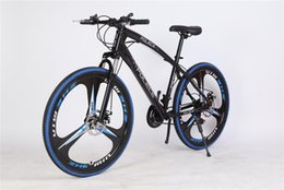 mountain cars UK - Black and blue new python special-shaped mountain bike 26 inch * 17 inch one wheel double disc brake export car custom brand