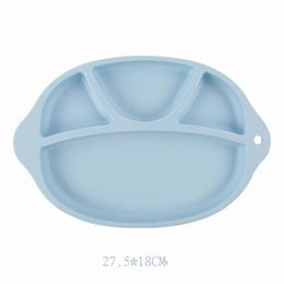 silicone plates bowls NZ - Baby Safe Silicone Dining Plate BPA Free Solid Children Dishes Suction Toddle Training Tableware Cute Cartoon Kids Feeding Bowls RRA28 hi7z#