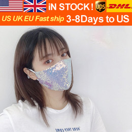 Wholesale korean women stockings for sale - Group buy Free DHL Adjustable Multi color Mask Trend New Korean Sequins Ear hanging Mask for Women in Spring and Summer Outdoor Sunscreen In Stock