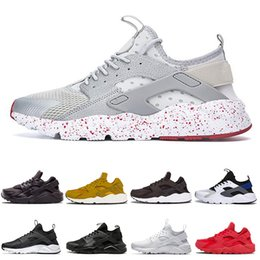 Discount best outdoor running shoes for women Best White dot huaraches 1.0 4.0 Running Shoes for Women black red Womens Mens discount outdoor trainers sports shoes