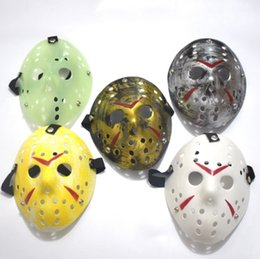 jason hockey mask UK - Jason Masks Horror Funny Full Face Mask Bronze Halloween Cosplay Costume Masquerade Masks Hockey Party Easter Festival Supplies 10pcs YW202