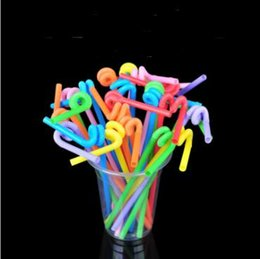 crazy drinking straws Canada - Free Shipping Disposable Plastics Straw Colorful Drinking Straws Art Modeling Crazy Straws lin5136