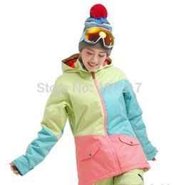 Wholesale green anorak jacket for sale – warmest winter New women s color matching ski jacket green blue pink snowboard jackets female skiing jacket anorak skiwear waterproof K