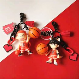 Wholesale anime basketball online – design Japanese anime Slam dunk master sakura flower Road liukawa Pendant schoolbag basketball maple basketball key chain schoolbag pendant male gi