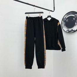 Wholesale woolen jersey resale online - 2020fw popular Mens womens Designer classic plaid Hoodie pant bur sets luxury Long Sleeve Sweatshirt outdoor streetwear top quality