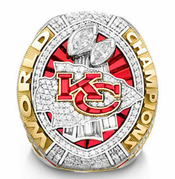 Wholesale 2019 wholesale Kansas 2020 City Chiefs World Championship Ring size 8-14