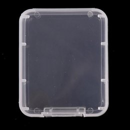 shatter tool NZ - Box Case Boxs Container Card Package Container Transparent Memory To Card Tool Shatter Carry Storage Protection Plastic Cf Card Easy qGyiQ