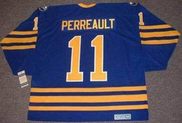 gilbert perreault jersey Canada - Men Women Youth GILBERT PERREAULT Buffalo Sabres 1984 CCM Vintage Away Hockey Jersey All Stitched Top-quality Any Name Any Number Goalie Cut