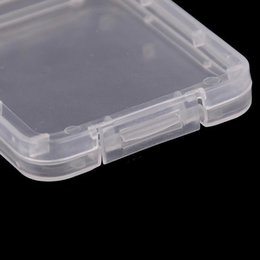 shatter tool NZ - Card Boxs Cf Card Storage Container Protection Plastic Case Shatter Box Transparent Container Free Carry Easy Memory To Tool PT2009 BbPai