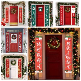supplies christmas door decorations Australia - Christmas Couplet Door Banner Porch Sign Christmas Holiday Hanging Decoration Porch Sign Decorative Family Festive Party Supplies BWD808