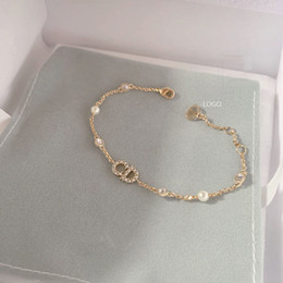 Selling! Fashion Crystal CD Bracelet Bracelet High Quality Classic Luxury Designer Jewelry Lady C Letter Jewelry Original Packaging on Sale