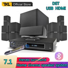 TKL 7.1 canaux Système Home Cinéma le son surround USB Bluetooth 3D Subwoofer Speaker System en Solde