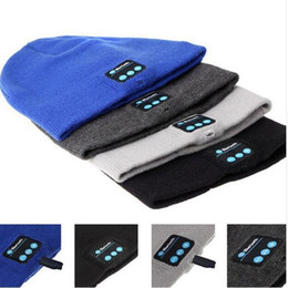 knit hats headphones NZ - Bluetooth Beanie Hat Headphones Washable Winter Knit Cap with Stereo Bluetooth Headset Earphones Speakers & Mic for iPhone Samsung Android
