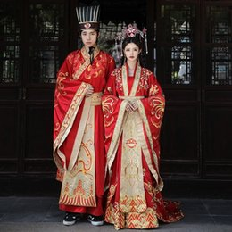 Wholesale ancient wedding dresses for sale - Group buy XrvSp Xiuhe bride new Chinese dress dress Fengguan Chinese clothing wedding Xiayu ancient costume trailing couple wedding clothing