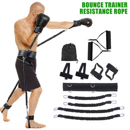 Wholesale 12pcs set Bounce Resistance Band Fitness Bouncing Trainer Rope Sports Fitness Resistance Bands Set Bouncing Strength Training Equipment