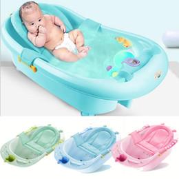 Venta al por mayor de Bañera bebé neta ducha de hidromasaje soporte de seguridad infantil para el Cuidado del Recién Nacido ajustable Red de Seguridad Cuna cabestrillo de malla para el baño infantil