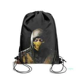 gold chain designs boy Canada - New- zero blue Fashion Sack Belt Backpack,Design Suitable For School Scorpion dargon logo Sub Zero running red