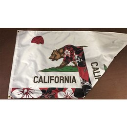 Wholesale fabric california resale online - 3x5 Double Sided Layers California Republic Flags Banner Polyester Fabric Outdoor Indoor