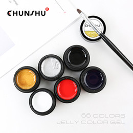 art painting grey 2020 - CHUNSHU 66Color UV Gel Nail Polish Jelly Color Painting Gel Lacquer 5ML Soak Off Nail Polish Nails Art Design Manicure D