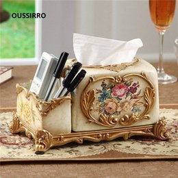 chinese towels UK - OUSSIRRO 2019 NEW Chinese style Tissue Box Fashion Elegant Household living Room Desktop Towel Napkin Tissue Holder I2GT#