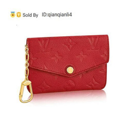 Wholesale exotic fashion dresses for sale - Group buy qianqianli4 KDF KEY POUCH M60634 WOMEN FASHION SHOWS EXOTIC LEATHER BAGS ICONIC BAGS CLUTCHES EVENING CHAIN WALLETS PURSE