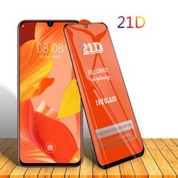 oppo screen NZ - 21D Full Glue Clear Tempered Glass Film Screen Protector Guard For Oppo Reno 6.4 Z F11 Pro K3 A7N A9X R17 R19 Realme 2 3 C1 C2 Anti-shock