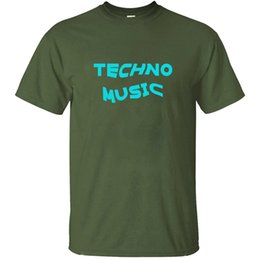 rave t shirts NZ - Printed Casual Techno Music Rave Music Electronic Dance Heartbeat T Shirt For Men Cute Comics Men T-Shirts