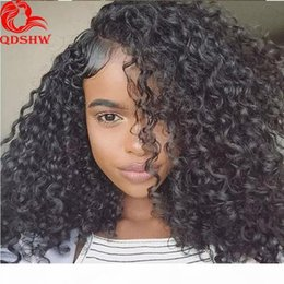 cheap afro full lace wigs NZ - Afro Kinky Curly Hair Wig For Black Women Cheap Glueless Brazilian Transparent Hd Full Lace Afro Kinky Curly Wigs Human Hair Pre Plucked