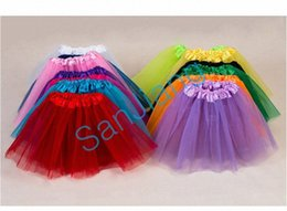 girls party bubble skirt dresses NZ - 2-8T Girls Tutu Skirt Lovely Baby Pleated Gauzy Tutus Summer Bubble Skirts Mesh Dress Party Costume Dance Ballet Dress Kids Clothes E3 0dU8#