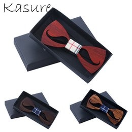 wedding bow ties for men Canada - KASURE Hollow Out Moustache Wooden Bow Tie For Men Classical Gift Necktie Party Wedding Casual Use for Gentleman