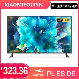 Wholesale Xiaomi TV 4S 43 inches 4K smart television 2G+8G storage support miracast Netflix DVB-T2+C DVB S2 intellgent LED television WIFI Android 9.0