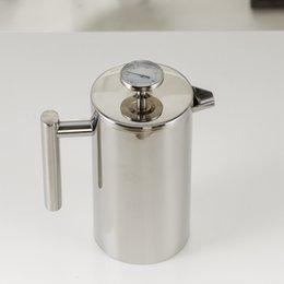 350/800 / 1000ML Pots de café presse française Cafetière Double Walled en acier inoxydable Cafetiere thé Pot avec filtre Filtre GGA3697-2 en Solde