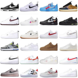 Groihandel 2020 air New AF1  orce Edison Chen nike forced 1 one Para-Noise Low Skateboard Shoes Men Women Running Shoes Fashion Dunk port Sneakes
