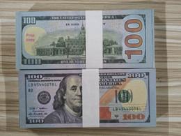 Vente en gros USA America Fake Billets de banque Dollars 100 dollars US DOLLARS Billets de banque Argent de papier pour la décoration de la maison Cadeau
