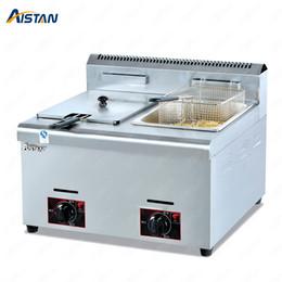 venda por atacado GF71 / GF72 Commerical Gas Gas LGP Frigerante para Chips de Batata Frango Fried Fryer com 1 ou 2 Tanques de Aço Inoxidável