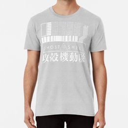 Ghost In The Shell Com japonês T Shirt Ghost In The Shell Anime Manga Scifi Japão Japonês Glitch Binary Coder
